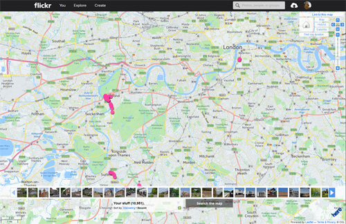 Flickr map view